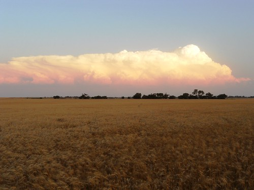 Sunset near Helena, OK