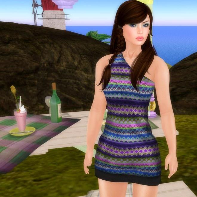 Koketka - Sara dress (blue)