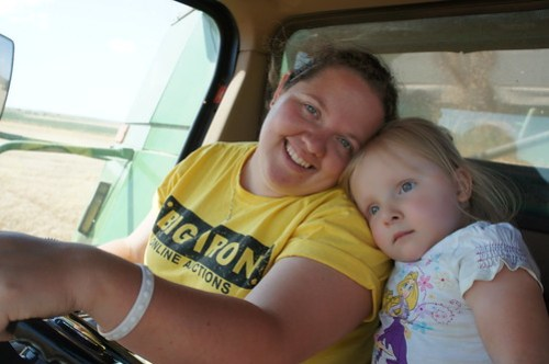 Evie and I Snugglin' in the Cab