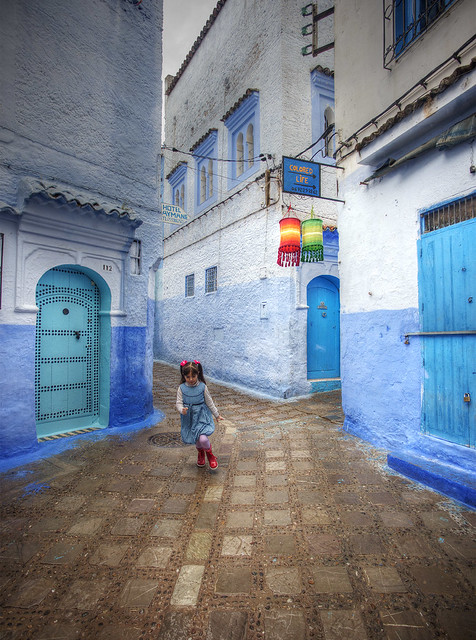 The Blue City, Chefchaouen, Morocco.
