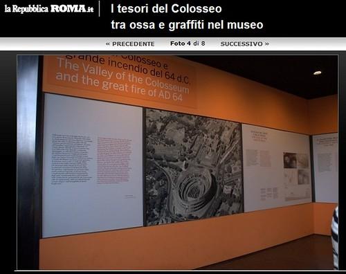ROMA ARCHEOLOGIA - Colosseo, Dott.ssa Rossella Rea: nuovo Museo permanente con 500 reperti - Antichità attraverso il periodo medievale. LA REPUBBLICA (29/04/2012). by Martin G. Conde