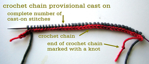 How To Cast On Stitches By Knitting Them On : Crochet Chain Provisional Cast On Tin Can Knits