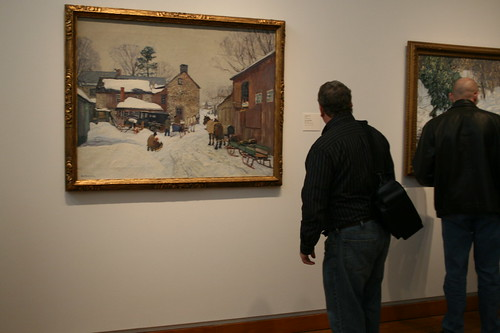 Brian checking out Bucks Co. artist