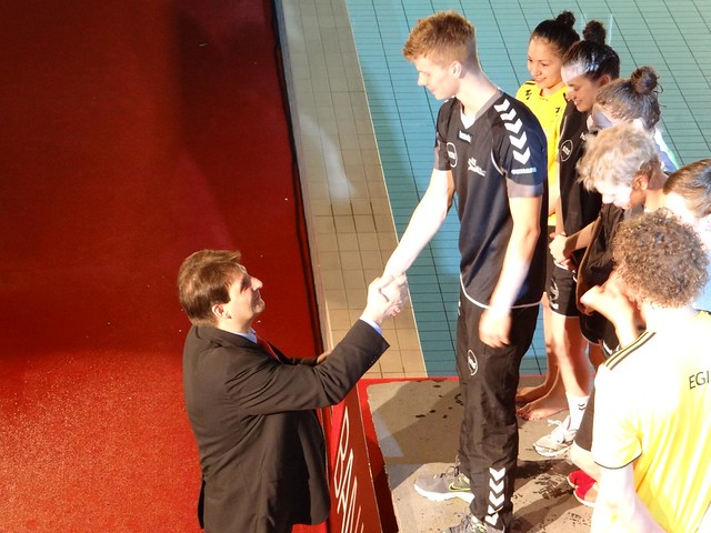 Our president greeting Magnus at FM 2012
