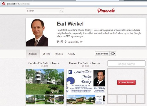 http://pinterest.com/earlweikel/ is my new Pinterest Account for Earl Weikel and East Louisville Realty in Louisville, KY