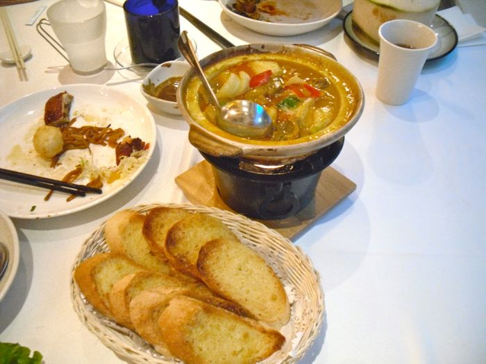 Curry and Garlic Bread