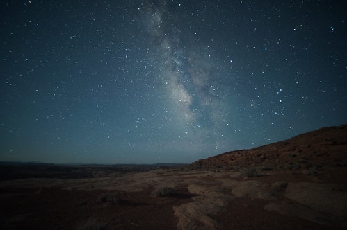 Milky Way view in the San Rafael Desert