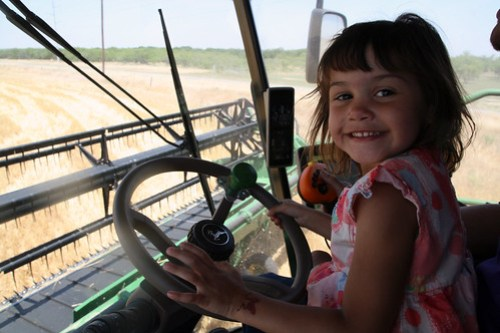 Future combine operator Kaidence takes the wheel