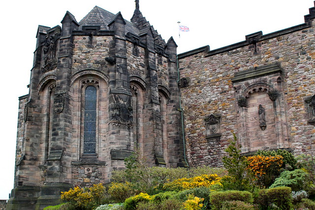 Friday: War memorial chapel at Edinburgh Castle