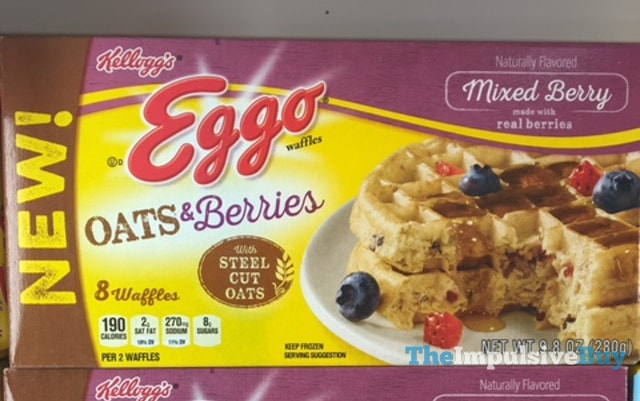 Kellogg's Mixed Berries Oats & Berries Eggo Waffles