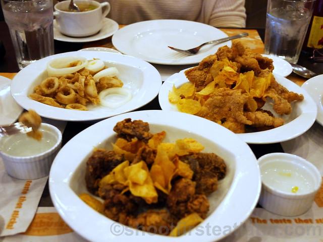 Sunburst Fried Chicken Cebu- fried food galore
