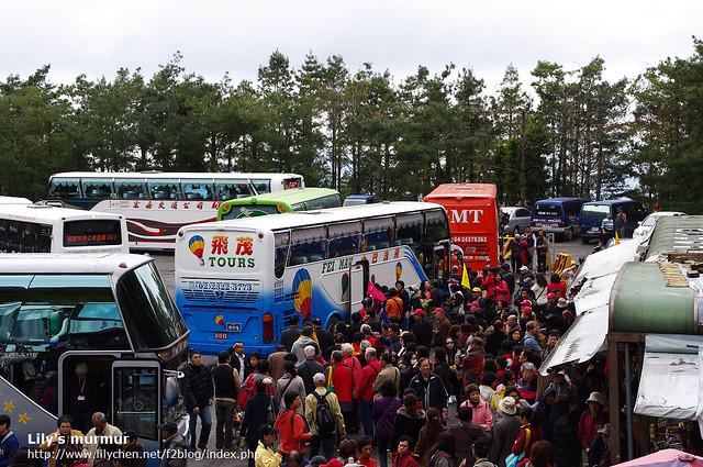 為數眾多的中國遊客,頓時間讓阿里山上「熱鬧非凡」。
