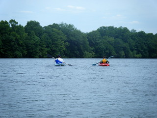 Alan and Ryan on Risers Lake