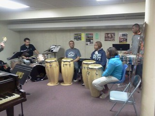 Dreamseeds Advance Students Miya, Shayla, Al-Dre practice with the Mambo Kings for Sat May 5th, Cinco de Mayo Celebration @ the Lovin Cup25