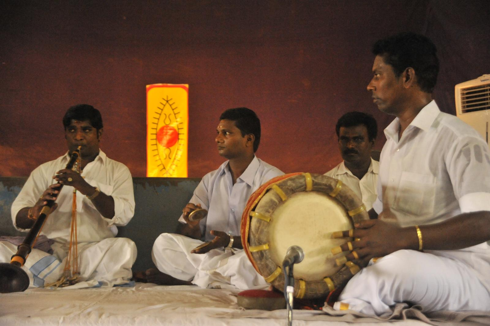 The nadaswaram troupe of Vid. Mambalam Siva  performing