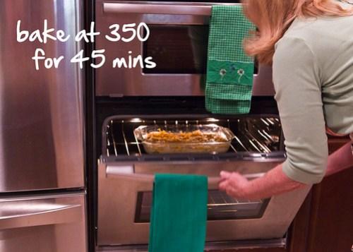 bake at 350 for 45 mins