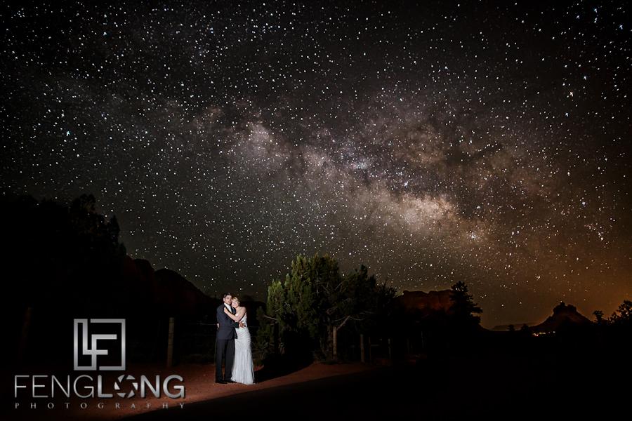 Bride + Groom + Milky Way | Ashley & Gaurav's Hindu Indian Wedding | Poco Diablo Resort | Sedona Arizona Destination Wedding Photographer