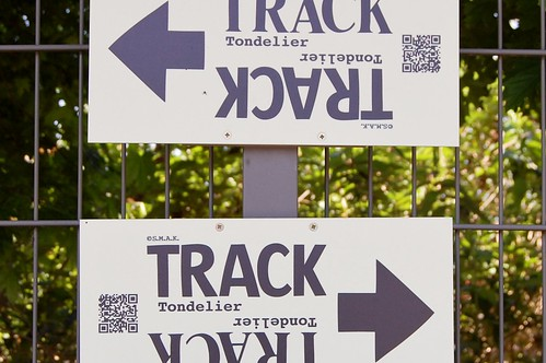 track, lettertypes