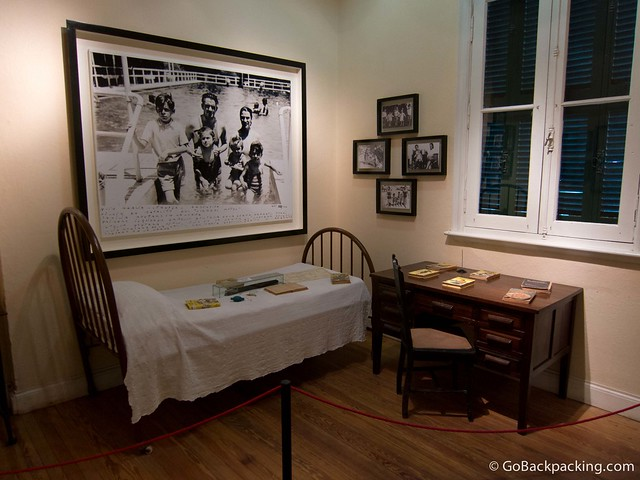 Inside Che's house, which now functions as a museum
