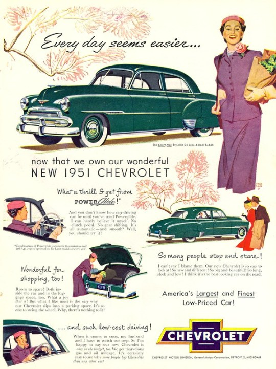 1951 Chevrolet Styleline De Luxe 4-Door Sedan - published in Good Housekeeping - March 1951