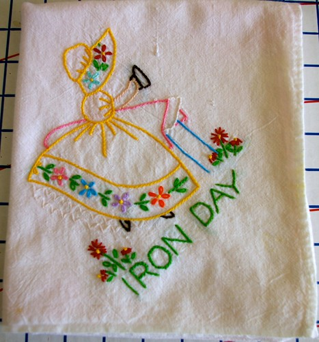 Iron Day Embroidered Towel