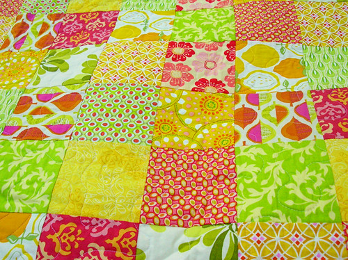 summer citrus patchwork closeup