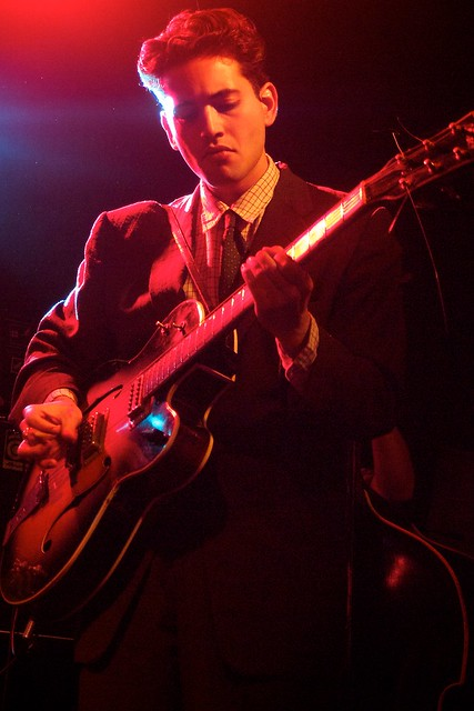 Kitty, Daisy and Lewis at the Garage