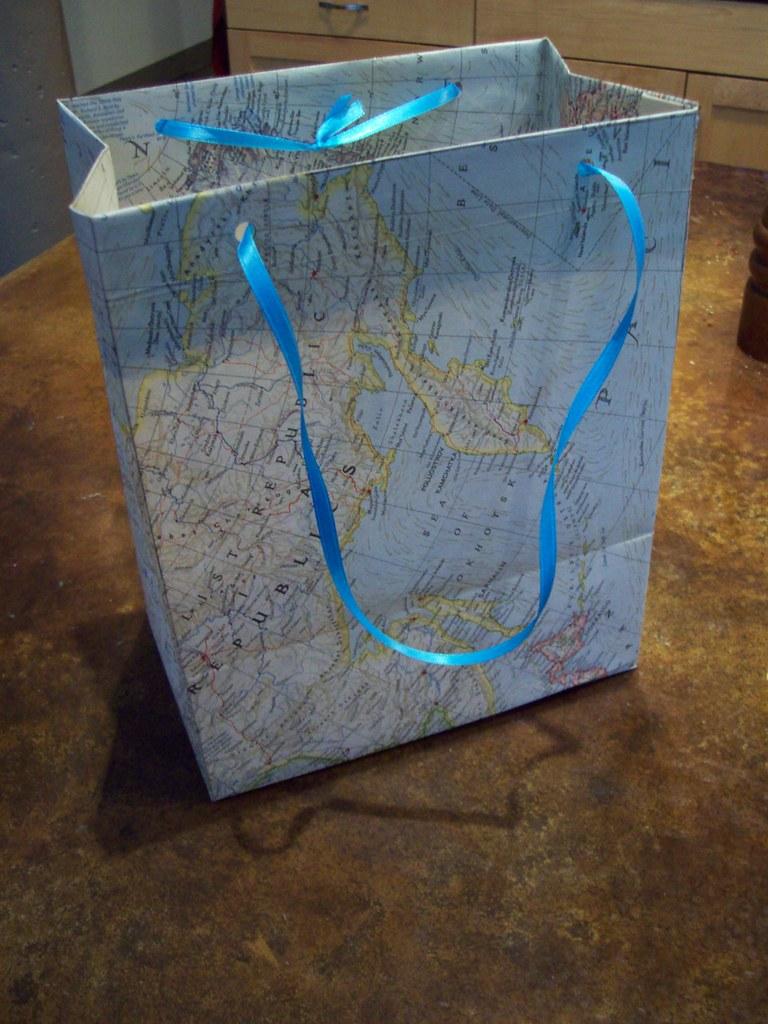Loop strings through holes to make ties