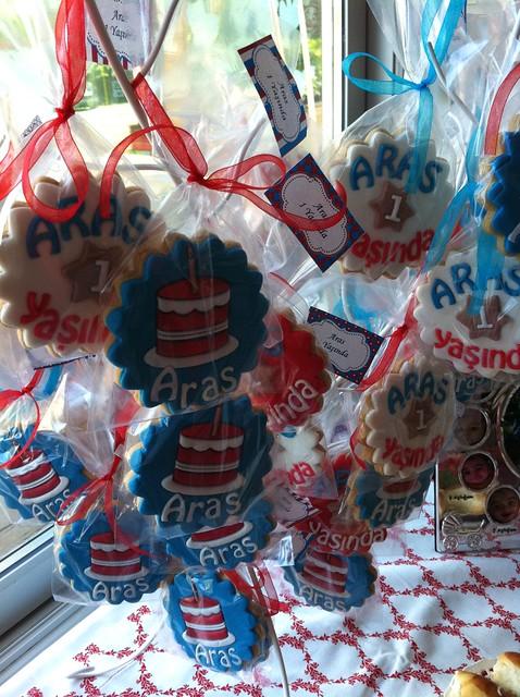 Aras'ın 1. yaş günü kurabiyeleri