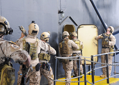 Sailors and Marines conduct visit, board, search and seizure exercises. by Official U.S. Navy Imagery