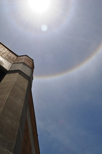 Is it a Sign? No, Just a 22º Sun Halo in Port Charlotte, Fla., June 4, 2012