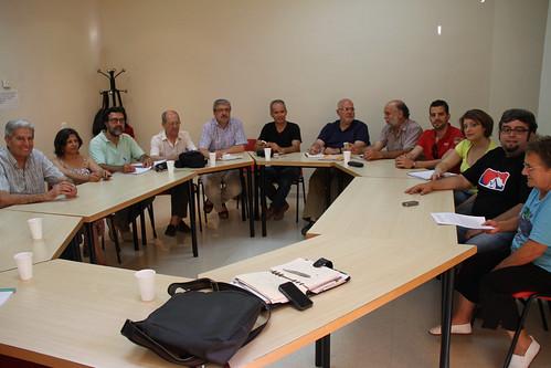 reunión mantenida 4 de junio del 2012 por la Plataforma contra la incineración en la cementera Cosmos en la Casa Ciudadana