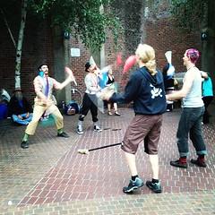 My coworker juggles. #bikemusicfest