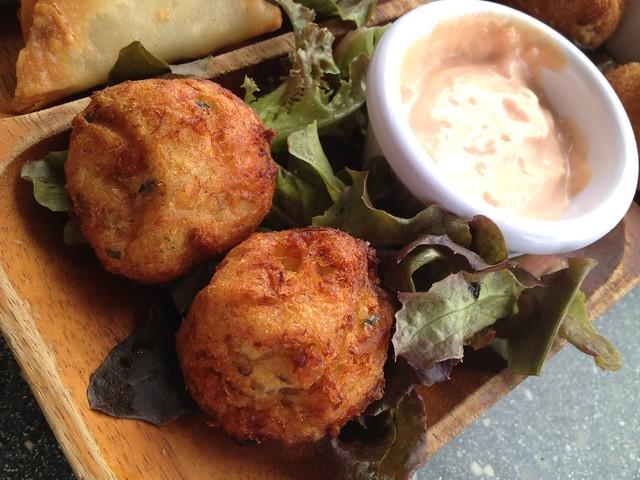 Bajan fish balls Waterfront Cafe