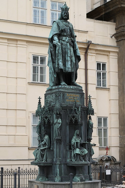 Charles IV. Statue on the Old Town side of the Karlův most
