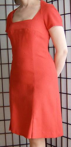 Red Linen Dress Front