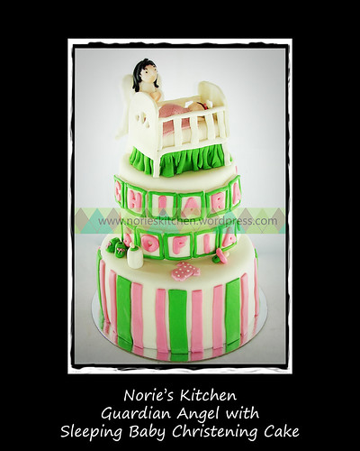 Norie's Kitchen - Guardian Angel Sleeping Baby Cake by Norie's Kitchen