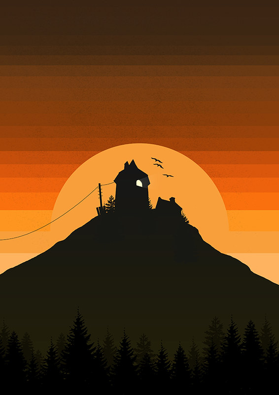 House on the hill poster design