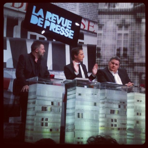 Pierre menez et nolleau @ La revue de presse paris derniere
