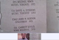 Pre-Ceremony intro:site test for Queen's Park Ontario Police Memorial this Sunday (May 6th) - pix 01