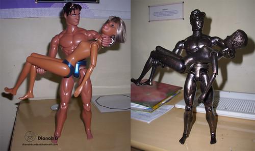 CUSTOMIZAÇÃO - Bonecos Estátuas de Bronze (DIY - bronze statues dolls) II by Dianah B.