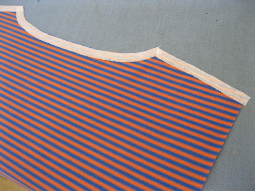 StyleARC Milly dress - taping the shoulder seams and neckline