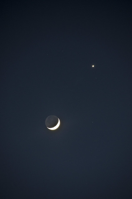 Moon Venus conjunction with ES 26 March 2012