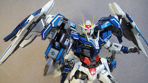 Custom Painted MG 00 Raiser Metal Build Color Scheme with Stand CF GundamPH (1)