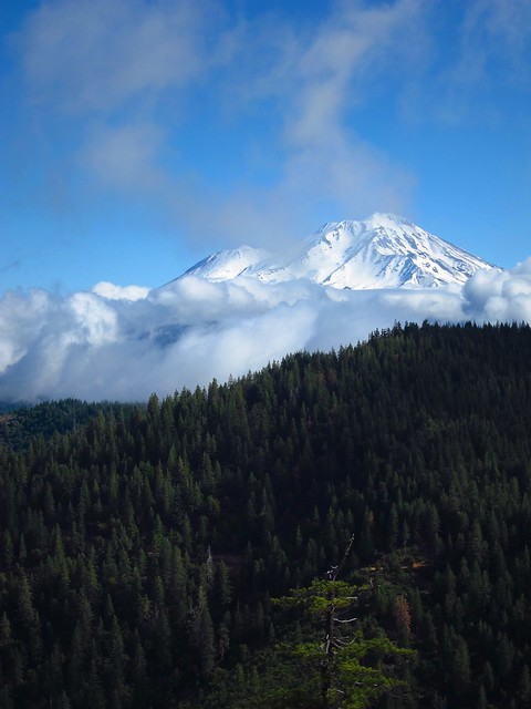 Storm clearing over Mount Shasta