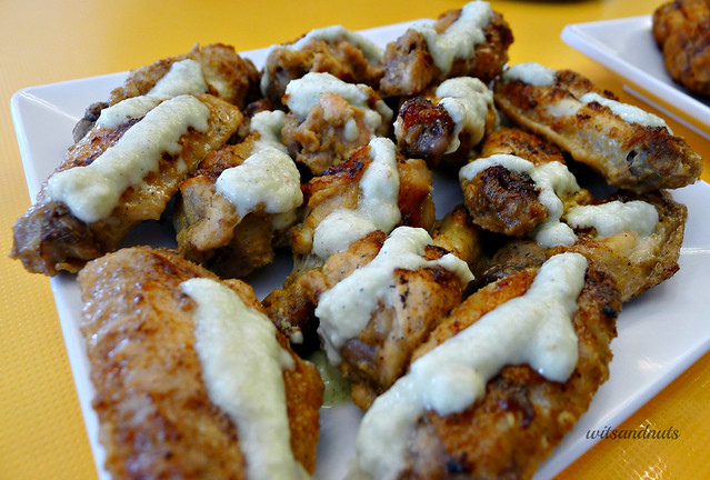 Bonchon's (Dubai's Kimchickin) grilled chicken wings with lemon garlic sauce