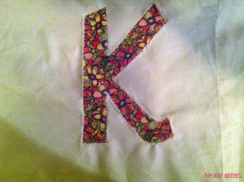 K Applique