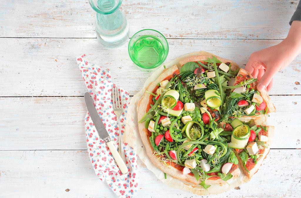 pizza farro e verdure primaverili