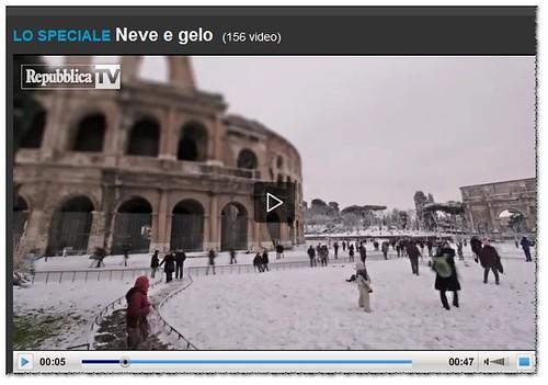 """[Uno dei migliori video - ] """"Neve sui Fori Imperiali: il time-lapse Roma - Il video realizzato da un nostro lettore, di Edoardo Cicchetti (TIMELAPSE.IT - Digital Timelapse Studio)."""" LA REPUBBLICA (05/02/2012).  by Martin G. Conde"""