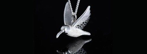 Necklace Large Hummingbird